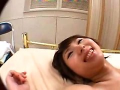 Beautiful Japanese shemale has a guy burying himself inside