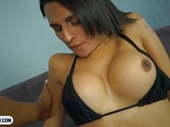 Tranny from Brazil loves to get nailed