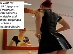 Latex Maid Luder: Scheiss Transvestitenschweine. Scheiss Fickdreck!