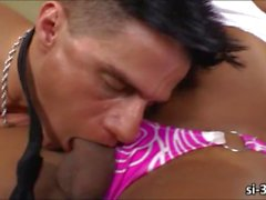 Stunning tbabe Ariadiny Oliver gets ass banged and jizzed