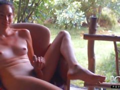 Cute curly hair Hawaii femboy jerks dick