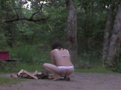 Seatless panties nude sissy campfire by Mark Heffron