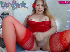 Cute chubby tranny playing dick Online