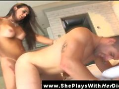 Amateur shemale tranny riding a dick