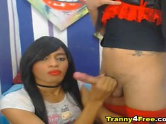 Two Nasty Tranny Fuck Anal Until Cum