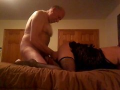 Hot Crossdrssser Kylee fucked by old sugar daddy
