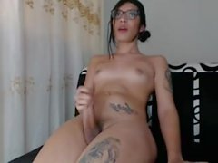 shemale kingberly_trioxxx keeping her cock hard