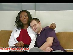 Ts Black Dom with a HUGE Cock Fucks a Guy on Gyno Table in a Hospital