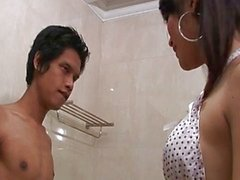 Thai tranny soapy massage