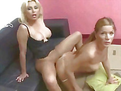 Blonde shemale fucking a tranny babes tight asshole
