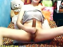 Hornyladyboy with erected penis