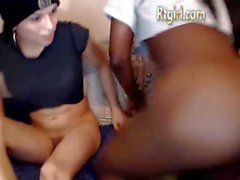 Interracial shemale couple pleasures you a Good blowjob