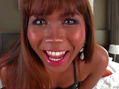 Solo Ladyboy Toying herself