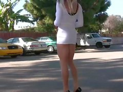 TrannyKitty fun (NonNude) upskirt tranny excitement