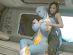 Blue 3D animation shemale bigboobs hard fucked