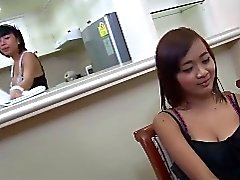 Cute little asian maid tranny fucks the bosses nice cock