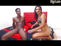 beautiful tgirl and her black boyfriend sucking rimming each other