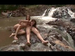Barbara Vasconcelos Fucks her girlfriend in a stream