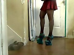 walking with my new heels