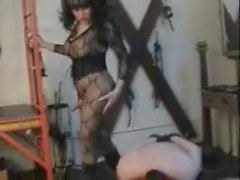 Vintage bdsm petting for tempty guy