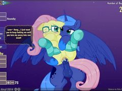 Fluttershy & Luna Lucent Dreams by Mittsies and Atryl