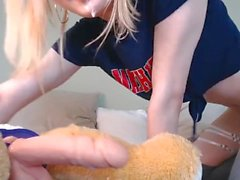 Young tgirl shows off deepthroating skills - ATM