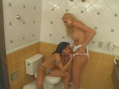 Renata Fucking A Girl In Toilet