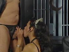Extreme German ts orgy in a cage with trannies and slaves