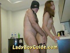 Red Bell End On Thai Ladyboy Tongue