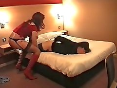 Tied crossdresser fucked by another one