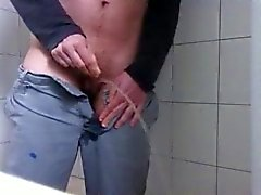 Transman peeing in shower