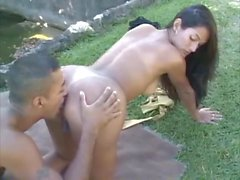 Melissa and Andre Garcia fucks on the nature