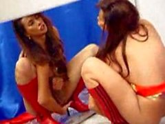 Vaniity eats her own cum