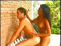Outdoor anal fucking with beautiful latina TS